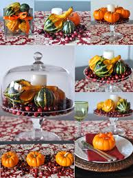 thanksgiving table centerpieces using mini pumpkins gourds and