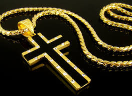gold jewelry cross necklace images 18k gold plated mens big cross necklace pendant chain hiphop onyx jpg