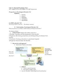 chapter 15 psychological disorders notes