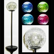 Crackle Globe Solar Lights by Crackle Glass Ball Solar Stake Light
