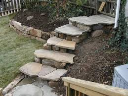 Landscape Ideas For Hillside Backyard by Stairs Design With Villa Outdoor Models Pretty Hillside