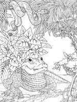 dessin ã colorier one piece crocodile