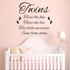 twins wall stickers ebay twins wall sticker bedroom nursery child decal quote vinyl transfer decoration