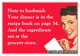 Grocery Meme - note to husband wititudes