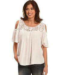 cold shoulder tops bila women s crochet lace cold shoulder top country outfitter