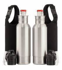 porsche water bottle amazon com 2x stainless steel beer bottle holder insulator with