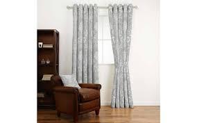 Steel Grey Curtains Josette Steel Curtain Fabric