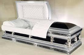 black casket photo of florence silver and black metal casket casket macabre