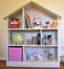 furniture white wooden dollhouse bookcase for kids room furniture