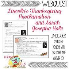 thanksgiving webquest lincoln s proclamation josepha hale