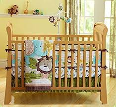 Crib Bedding Jungle Safari Baby Boy 7 Pieces Nursery Crib