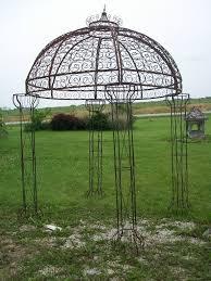 garden trellis pergola wrought iron round flower arbor garden