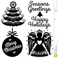 christmas clipart black and white