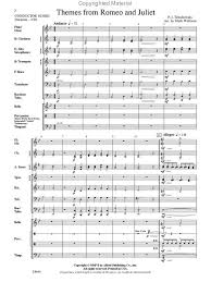 themes of youth in romeo and juliet romeo and juliet themes from conductor score parts sheet music