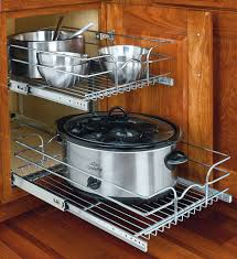 Kitchen Cabinet Shelf Organizer Pull Out Cabinet Shelves And Organizers Organize It