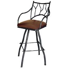 Wrought Iron Bar Stool Furniture Set Of High Wrought Iron Bar Stools Black Finish With
