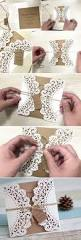inexpensive rustic laser cut wedding invitation with tag ewws040