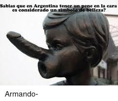 Meme Pene - sabias que en argentina tener un pene en la cara es considerado un