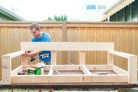 Plans For A Wooden Bench Swing by Step By Step Diy Oversized Porch Swing Modified Ana White Tut