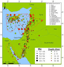 map of the dead seismicity map of the dead sea transform region including historic