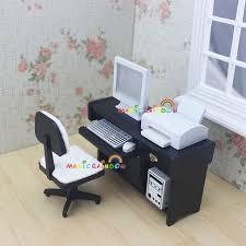 bureau echelle échelle 1 12 dollhouse miniatures bureau chaise d ordinateur