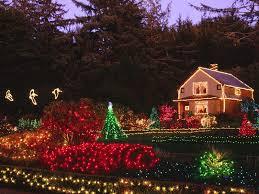 Colored Christmas Lights by Christmas Lights On Houses Wallpaper