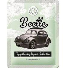 beetle large metal plate deco