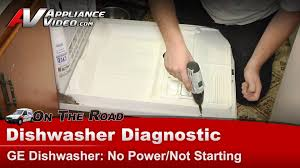 General Electric Dishwasher Dishwasher Diagnostic No Power U0026 Not Starting Ge General