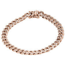 rose gold bracelet with diamonds images Rose gold 10k fine bracelets ebay jpg
