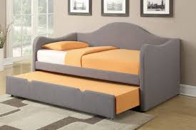 grey linen twin bed by poundex f9224 huntington beach furniture