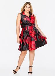 plus size winter floral wrap dress 010 9d463