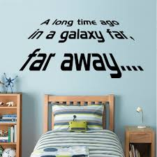 Liverpool Wall Stickers Star Wars A Long Time Ago Wall Decal Art Sticker Boy S Bedroom