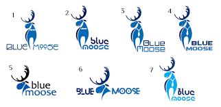 blue moose wedding band serious masculine logo design for bobby o hara by olga artbox