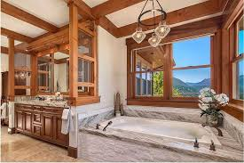 Bathroom With Stone Framed To Perfection 15 Bathrooms With Majestic Mountain Views