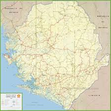 Map Of Asia With Cities by Sierra Leone Maps Maps Of Sierra Leone