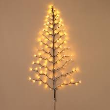 lighted wall tree indoor outdoor led 4 foot high