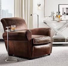 Restoration Hardware Recliner 1920s Parisian Leather Club Chair