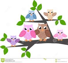 a cute owl family royalty free stock photo image 17235005