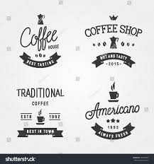 set vintage labels logo templates coffee stock vector 307432295