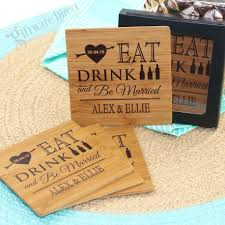 wedding coasters personalised engraved square wooden wedding coasters cheap price alder