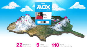 Map Of North America With Mountains by New M A X Pass Gives East Coast Skiers And Snowboarders Access