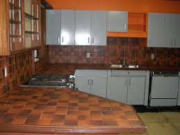 Kitchen Metal Cabinets Before Kitchen 1950 U0027s Metal Cabinets Refinished Youngstown