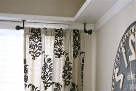 Curtain Hanging Ideas Image Of Ceiling Curtain Rods Ideas Curtains Hanging From