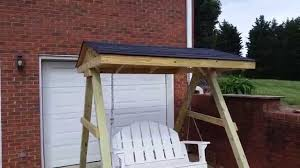 porch roof plans porch swing frame with a roof youtube