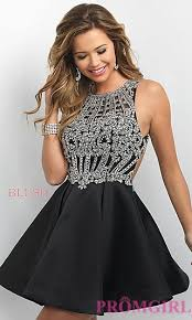 fit and flare short prom and party dresses promgirl