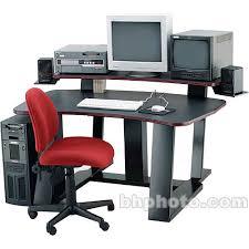 Wrap Around Computer Desk Winsted Digital Desk With Riser And Speaker Brackets E4622 B U0026h