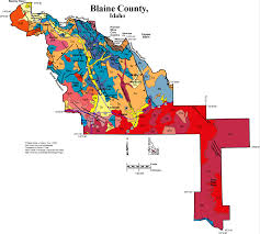 Idaho Counties Map Geologic Map Of Blaine County