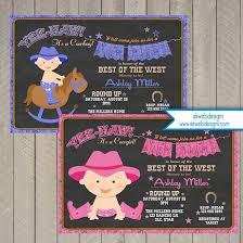 cowboy baby shower invitation baby shower invitation