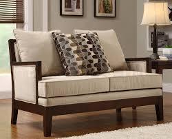 attractive minimal design sofa set designs brown color with wood