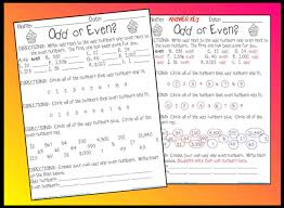 odd or even worksheet printable worksheet with answer key lesson